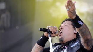 Chuck Billy, chanteur de Testament  (Herbert P. Oczeret / EPA / Newscom / MAXPPP)