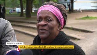 La mère d'une adolescente tuée le 14 mai 2021 àIvry-sur-Seine (Val-de-Marne) témoigne. (FRANCEINFO)