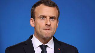 Emmanuel Macron a réaffirmé sa volonté de réformer le statut des cheminots. (LUDOVIC MARIN / AFP)