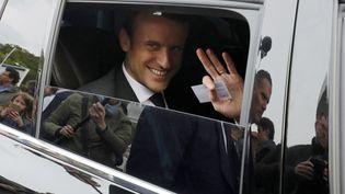 Emmanuel Macron le 25 avril 2017. (PHILIPPE WOJAZER / POOL)