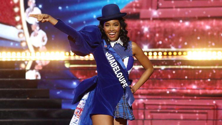 Miss Guadeloupe lors de l'élection de Miss France 2020, le 14 décembre à Marseille. (FRED DUGIT / MAXPPP)