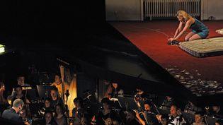 """L'Opéra Théâtre de Saint-Etienne est dans la tourmente (ici, """"La Voix humaine"""" de Francis Poulenc en mars 2010)  (Celik Erkul / PhotoPQR / Le Progrès / MAXPPP)"""