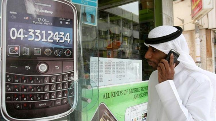 Publicité pour un BlackBerry à Dubaï (AFP)