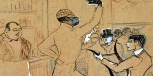 Le clown Chocolat croqué par Henri de Toulouse-Lautrec  (NC)
