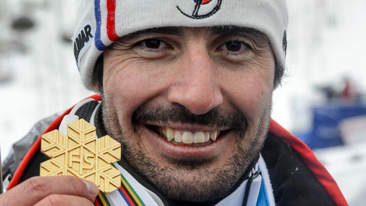 Jean-Baptiste Grange lors de sa victoire aux Championnats du monde 2015. (FABRICE COFFRINI / AFP)