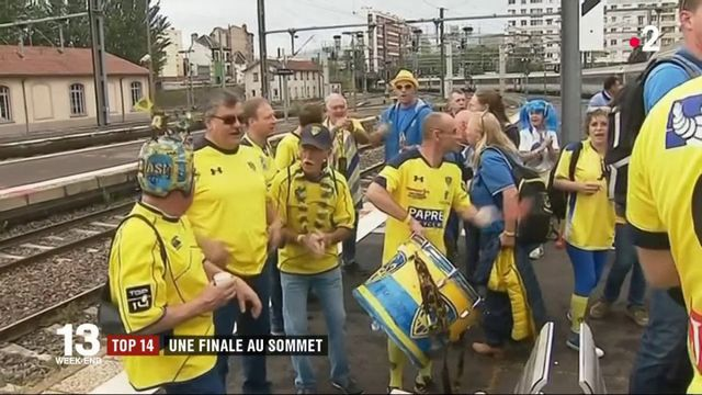 Finale du Top 14 de rugby : les supporters s'échauffent