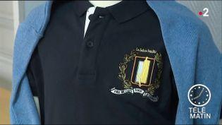 L'uniforme que vont porter la moitié des élèves des écoles élémentaires de Provins. (France 2)