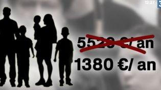 Les allocations familiales dépendront des revenus. (CAPTURE D'ÉCRAN FRANCE 3)