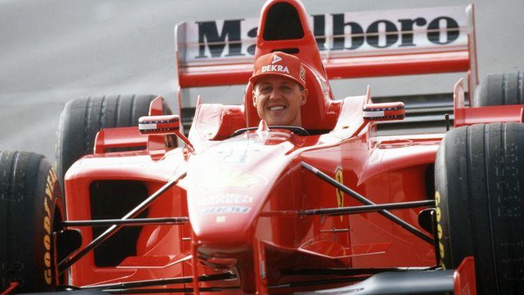 L'AllemandMichael Schumacher, lors de lasaison 1998, chez Ferrari. (AUGENKLICK / FIRO SPORTPHOTO / AFP)