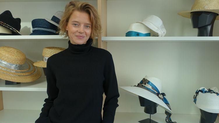 Priscilla Royer, directrice artistique de Maison Michel, en novembre 2018 à Paris  (Corinne Jeammet)