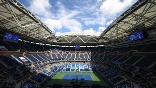 Le Stade Arthur-Ashe vide de spectateurs durant cet US Open 2020. (AL BELLO / GETTY IMAGES NORTH AMERICA)