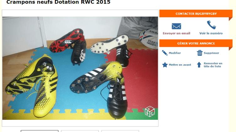 Capture d'écran de l'annonce postée par un joueur de rugby sur Le Bon Coin. (LE BON COIN)