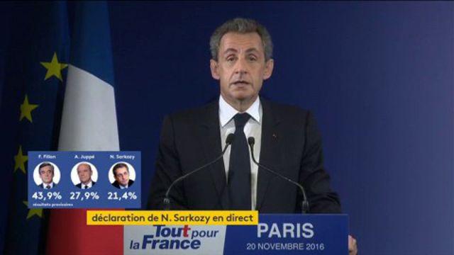 Nicolas Sarkozy annonce qu'il votera pour François Fillon au second tour de la primaire