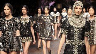 Dolce & Gabbane pap ah 2014-2015, à Milan  (TIZIANA FABI / AFP)