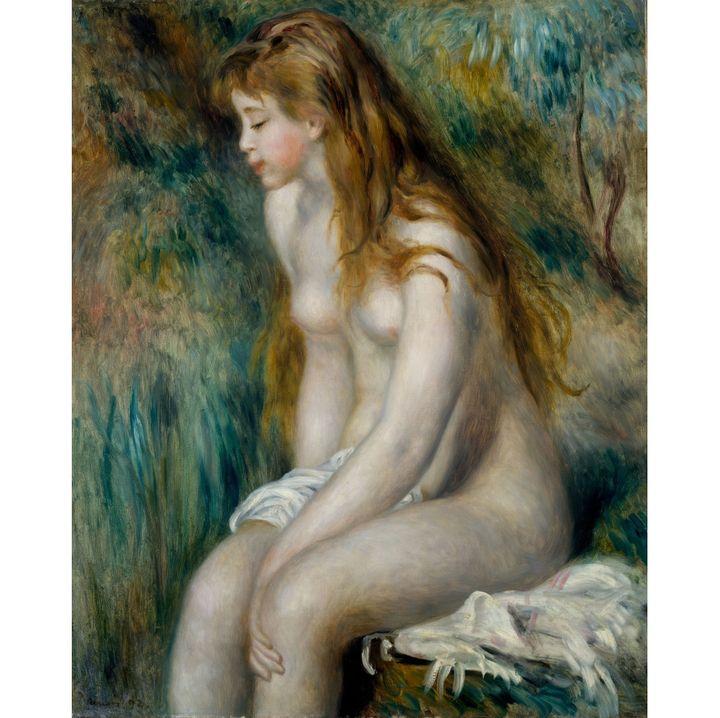 "Pierre-Auguste Renoir, ""Jeune fille au bain"", 1892, New York, The Metropolitan Museum of Art, Robert Lehman Collection, 1975  (New York, The Metropolitan Museum of Art )"
