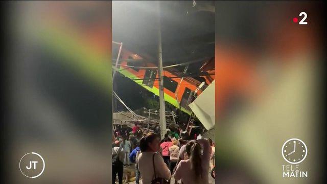 Mexique : l'effondrement d'un pont aérien du métro fait au moins 15 morts à Mexico