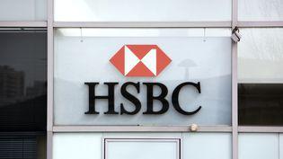 Un logo de la banque HSBC à Paris, le 24 mars2010. (LOIC VENANCE / AFP)