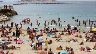 La plage des Catalans à Marseille (Bouches-du-Rhône), le 1er août 2017. (MAXPPP)