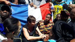 Annick Girardin, ministre des Outre-mer, est en visite à Mayotte,le 12 mars 2018. (MINISTERE DES OUTRE-MER)