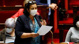 Frédérique Vidal, la ministre de l'Enseignement supérieur, à l'Assemblée nationale, le 23 mars 2021. (THOMAS SAMSON / AFP)
