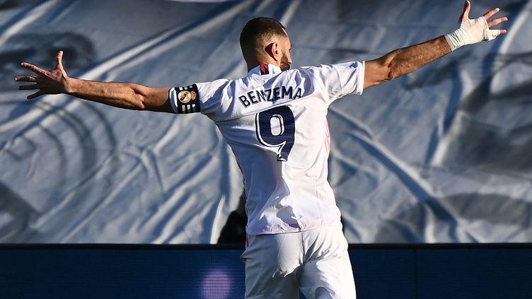Karim Benzema a délivré le Real face à Elche. (GABRIEL BOUYS / AFP)