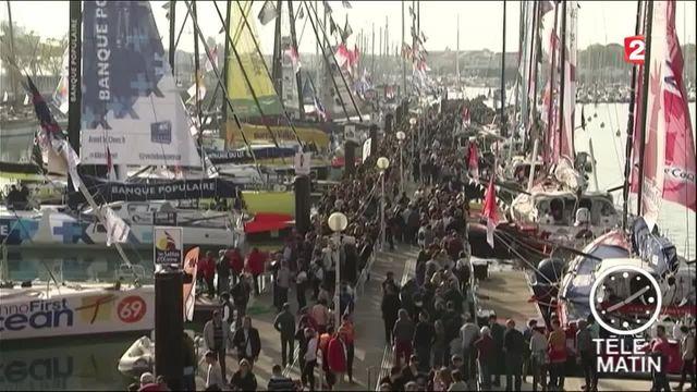 Vendée Globe : beaucoup de monde pour voir les skippers avant le départ