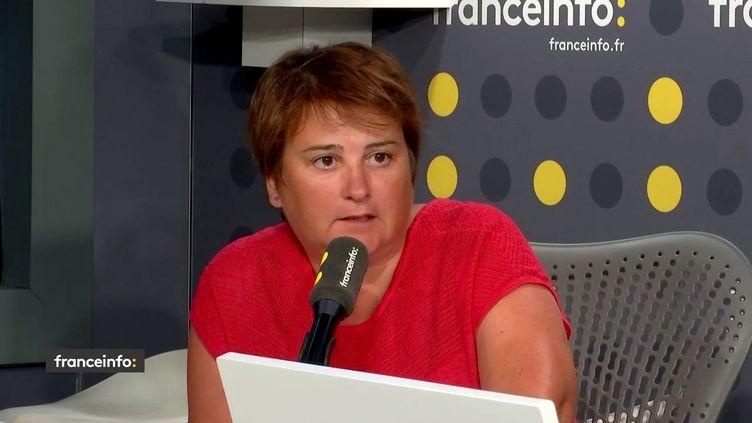 Céline Verzeletti, secrétaire confédérale de la CGT,invitée defranceinfo. (FRANCEINFO / RADIOFRANCE)