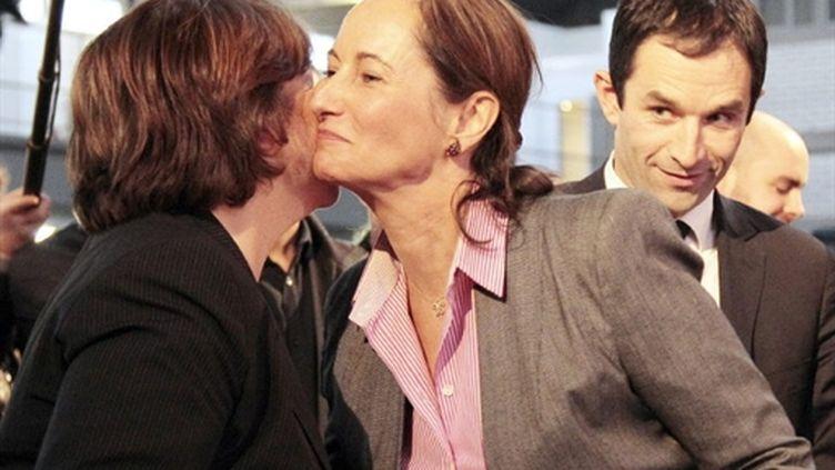 Martine Aubry, Ségolène Royal et Benoît Hamon à la convention du PS (AFP/JACQUES DEMARTHON)