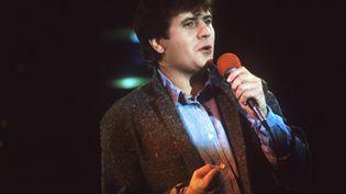 Le chanteur Daniel Balavoine le 1er février 1984 à Paris. (AFP)