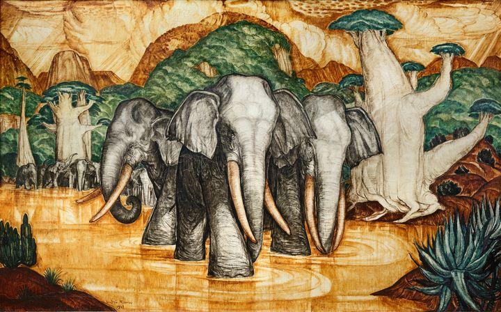 Maire Andre Les elephants, 1947, Mali