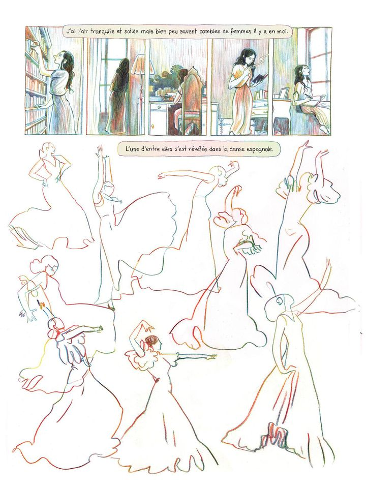 """Page 18 de l'album """"Anaïs Nin - Sur la mer des mensonges"""". (Casterman / Léonie Bischoff)"""