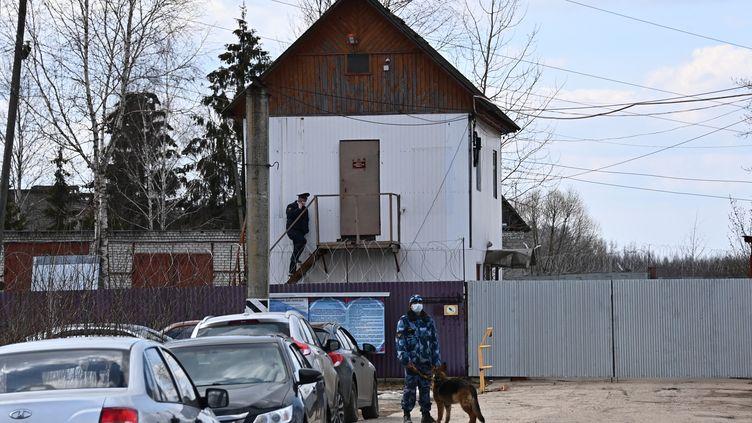 La colonie carcérale de Pokrov, à une centaine de kilomètres de Moscou (Russie), le 6 avril 2021. (EVGENY ODINOKOV / SPUTNIK / VIA AFP)