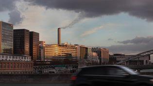 La vue depuis le pont d'Austerlitz, à Paris, le 25 octobre 2020. (MANUEL COHEN / AFP)