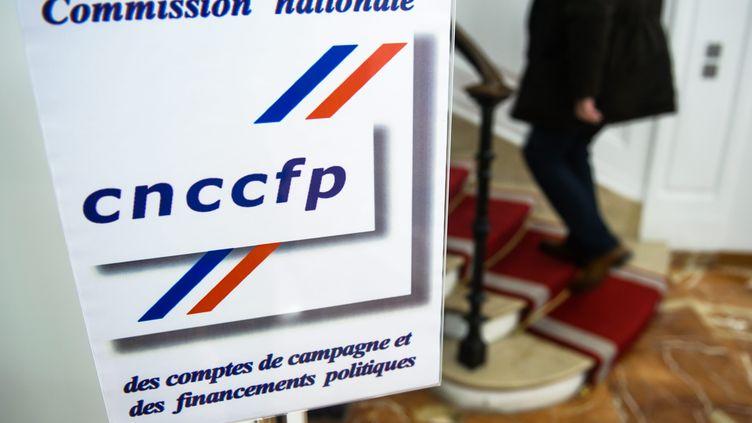 Au siège de la commission nationale des comptes de campagnes et des financements politiques, à Paris. (MAXPPP)