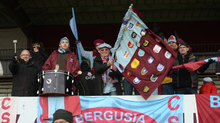 Les supporters du CSJB (Bourgoin) (CITIZENSIDE/MOURAD ALLILI / CITIZENSIDE.COM)