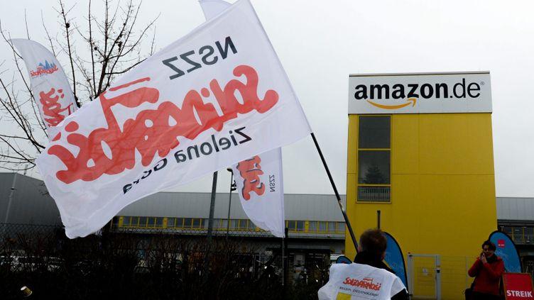 (Grève au centre logistique d'Amazon à Leipzig © maxppp)