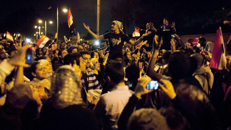 Des manifestants au Caire, le 4 décembre 2012. (NASSER NASSER/AP/SIPA / AP)