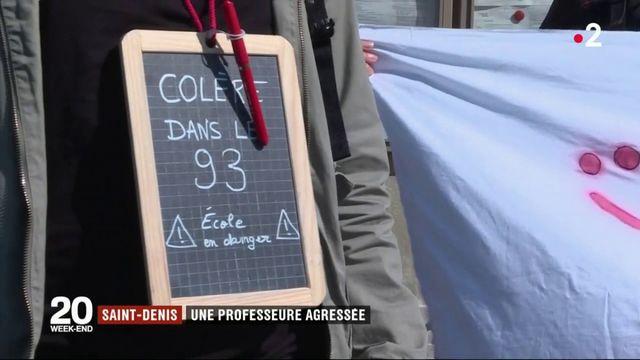 Saint-Denis : solidarité après l'agression d'une professeure
