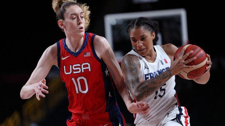 Gabi Williams et les Bleues affrontent la redoutable Team USA aux Jeux de Rio. (THOMAS COEX / AFP)