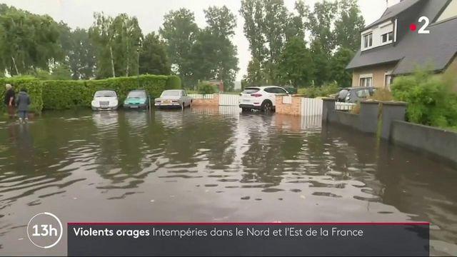 Intempéries : de violents orages dans le Nord et l'Est de la France