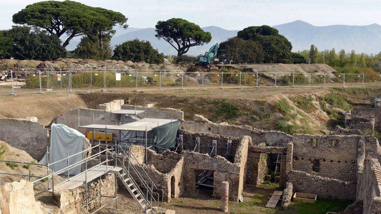 Les dernières fouilles à Pompéi. Une inscription sur une villa laisse penser que l'éruption qui a enseveli la ville romaine date d'octobre 79 et non d'août 79  (Gennaro Giorgio / AFG / SIPA)