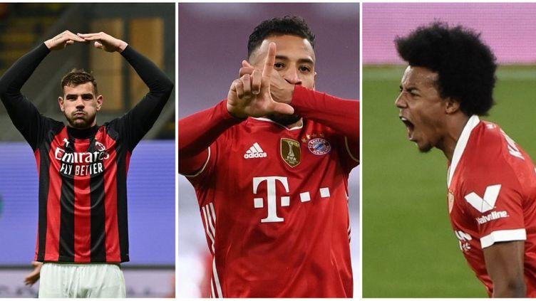 Théo Hernandez, Corentin Tolisso et Jules Koundé pourraient créer la surprise en étant présent dans la liste de Didier Deschamps à l'Euro 2021, dévoilée mardi 18 mai. (AFP)
