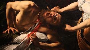"""La toile """"Judith décapitant Holopherne"""" au musée Jacquemart André, en 2018  (GINIES/SIPA)"""