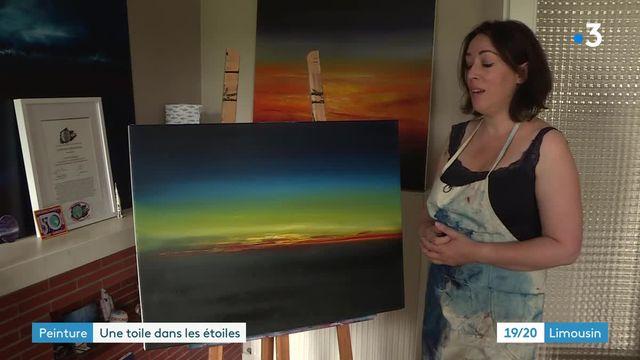 En Prives, Crystal Desangles pinta la estratosfera con la esperanza de enviar sus pinturas al espacio.