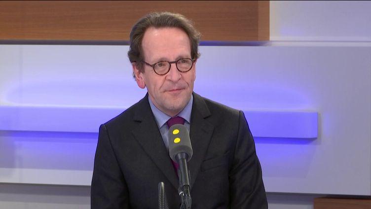 Gilles Le Gendre, invité de franceinfo, mercredi 4 mars. (FRANCEINFO / RADIOFRANCE)