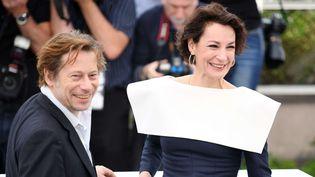 Mathieu Amalric et Jeanne Balibar à Cannes (18 mai 2017)  (James Gourley / Shutterst / SIPA)