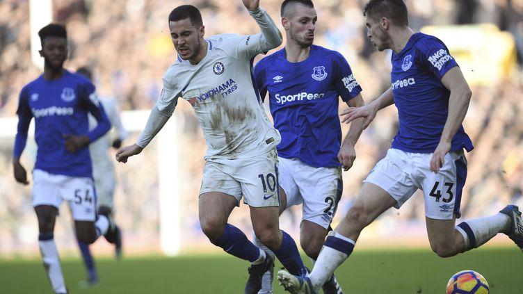 L'attaquant de Chelsea Eden Hazard (PAUL ELLIS / AFP)