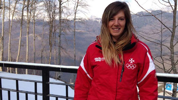 La skieuse maltaise, Elise Pellegrin