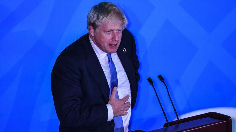 Boris Johnson à New York, le 23 septembre 2019. (STEPHANIE KEITH / GETTY IMAGES NORTH AMERICA / AFP)