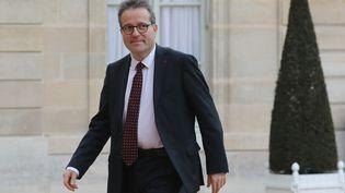 Martin Hirsch, ledirecteur général de l'Assistance publique-Hôpitaux de Paris (AP-HP), au Palais de l'Elysée, le 10 avril 2018. (LUDOVIC MARIN / AFP)